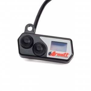 Handlebar-Mounted Push Button Controller w/LED Pressure Gauge (Black)